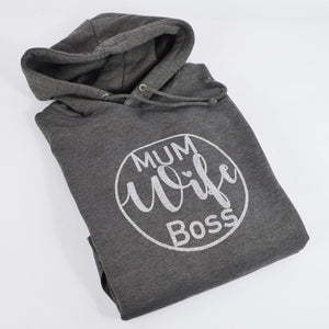 'Mum Wife Boss' Ladies Hoodie