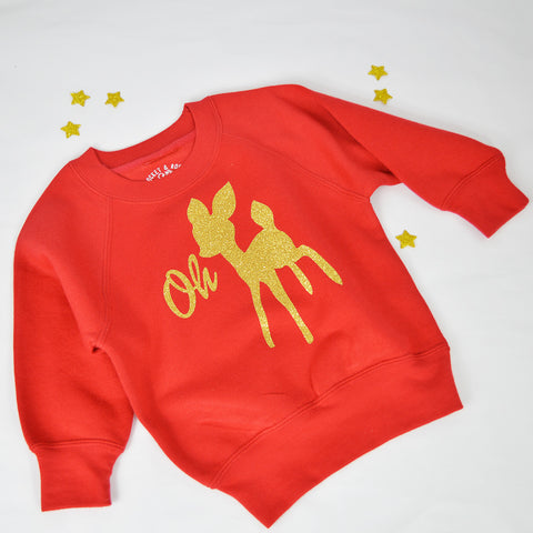 'Oh Deer' Cute Kids Sweatshirt