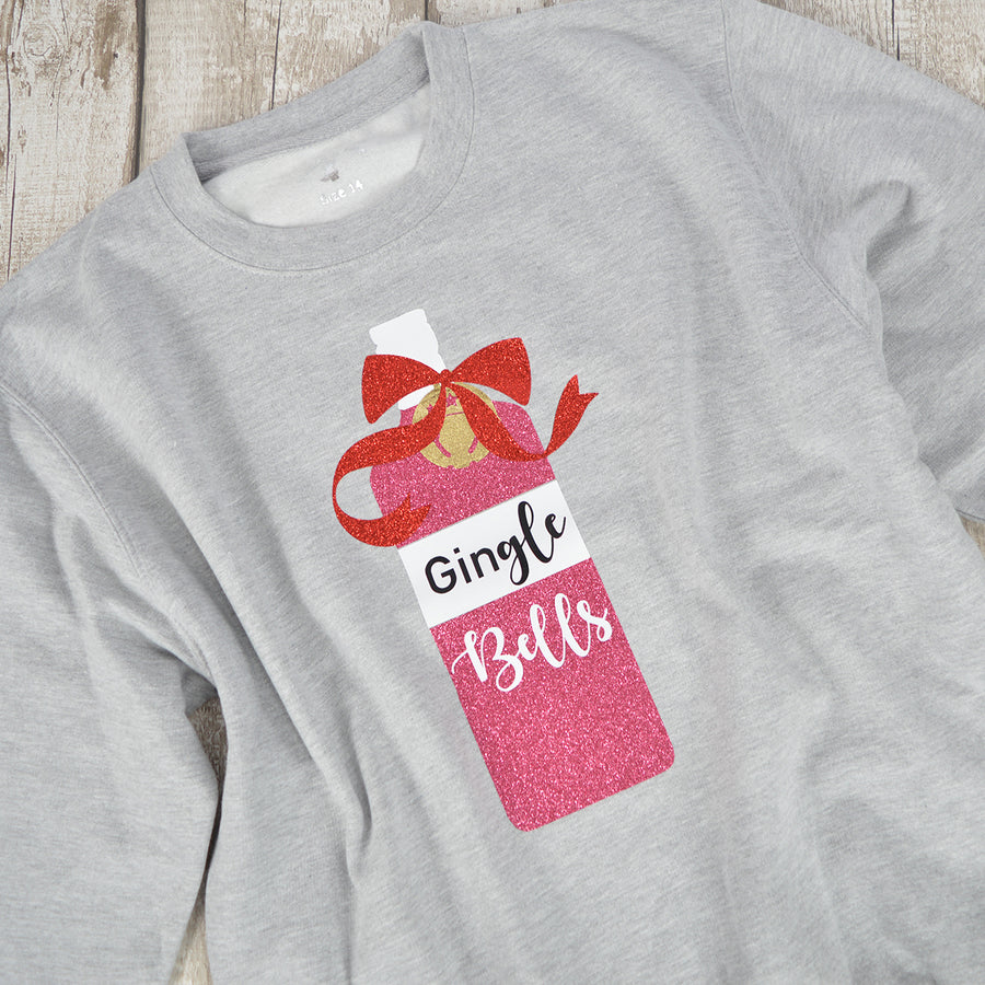 'GinGle Bells' Fun Christmas Gin Sweatshirt
