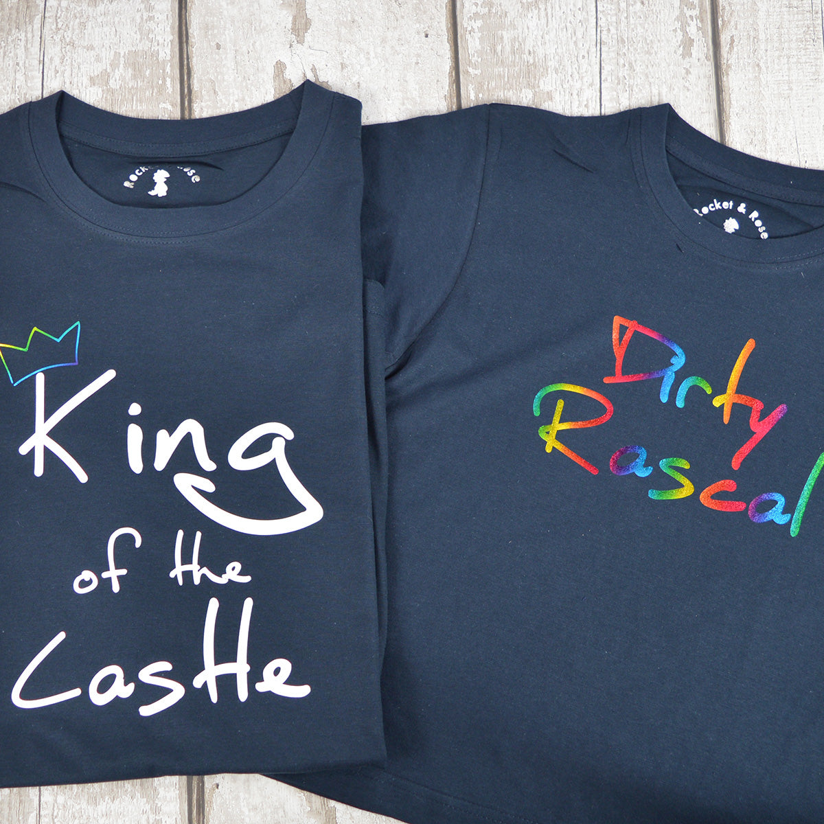 'King of the Castle & Dirty Rascal' Matching T-Shirt Set