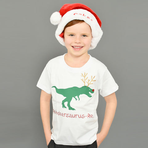 'Reindeersaurus Rex' Personalised Christmas Kids T-Shirt