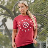 Star Tri-Blend Crew NutraOne Red