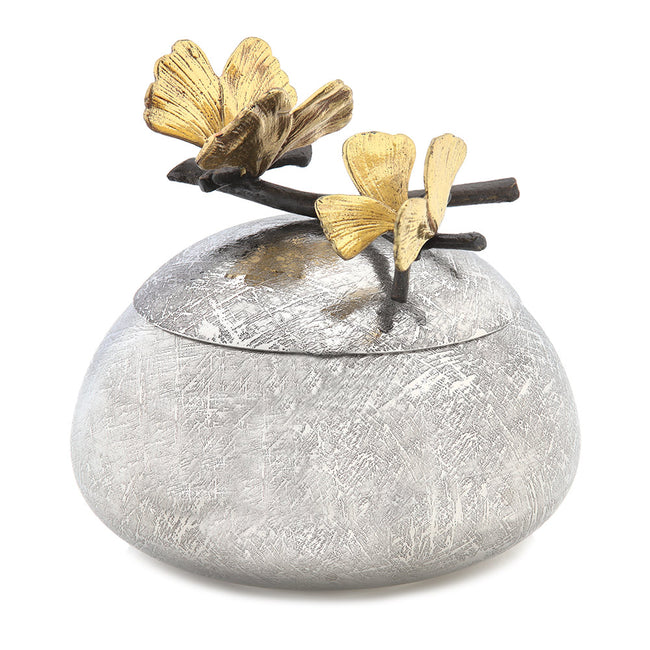 Product Shot Of Flowered Silver Gift Item