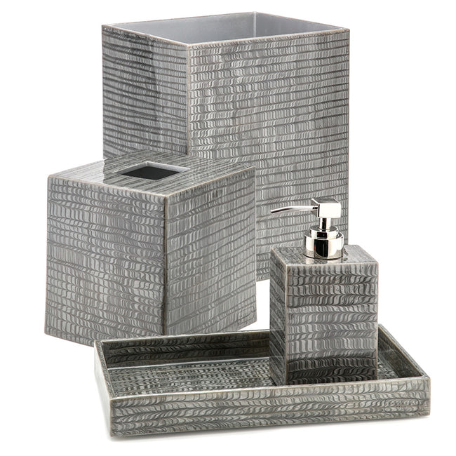 Product Shot Of Grey Bathroom Set