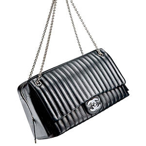 Product Photography Of Black Chanel Handbag
