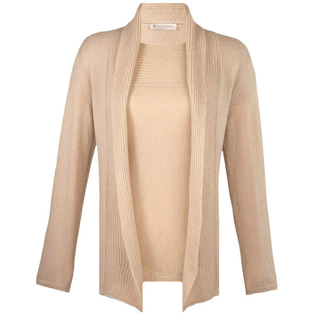 Invisible Mannequin Product Photo Of Beige Sweater Set
