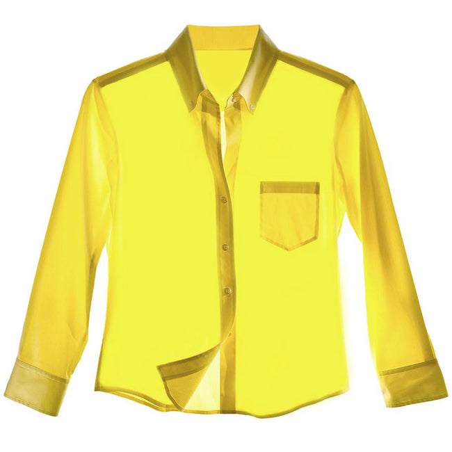 Product Photo Of Yellow Mens Button Down Shirt