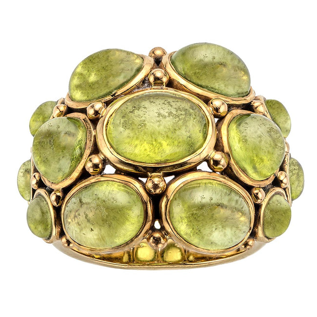 Jewelry Product Photography Of Temple St. Clair Green Stone Ring