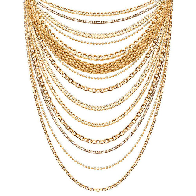 Jewelry Product Photo Of Various Gold Necklaces