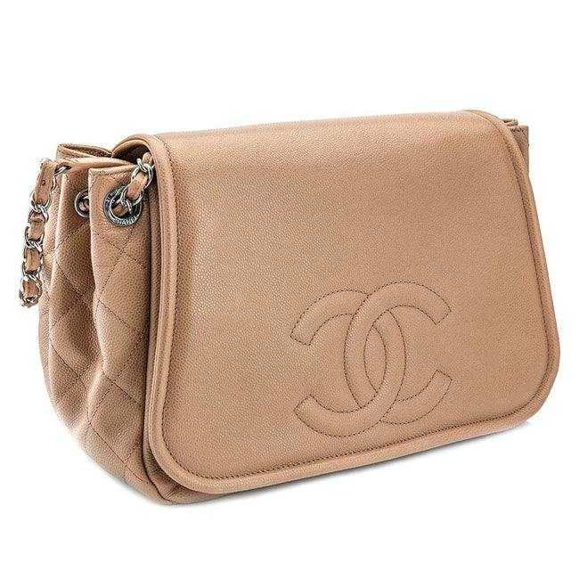 Product Photography Of Beige Chanel Purse
