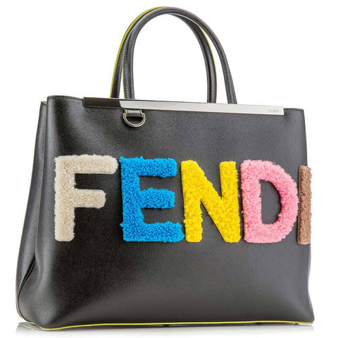 Product Photography Of Black Leather Fendi Handbag