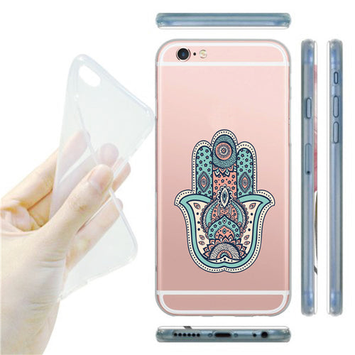Buddha Flower Design Soft Silicone TPU Phone Case