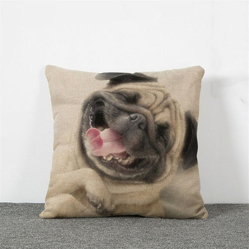 Happy Days Pug Pillow Case