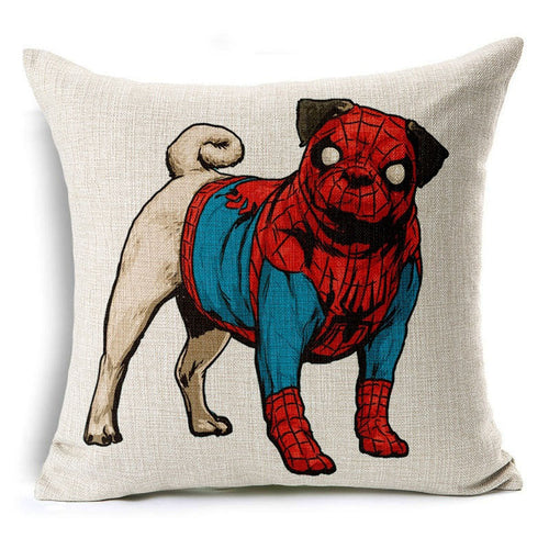Spider Pug Pillow Case