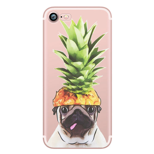 Pugapple Clear Soft Silicon TPU Iphone Case