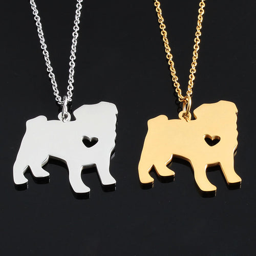 Gold/Silver Pug Necklace
