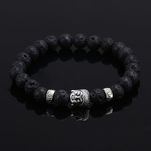 Natural Stone Buddha Head Bracelet