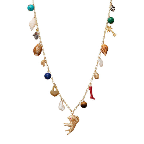 Les Charmantes Charm Necklace with 17 charms