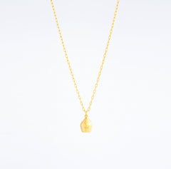 Gold Chain & Plain Lune Charm