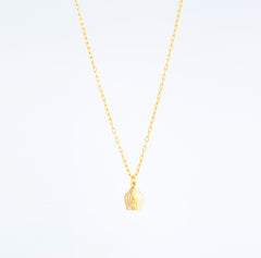 Gold Chain & Diamond Sided Pavé Lune Charm