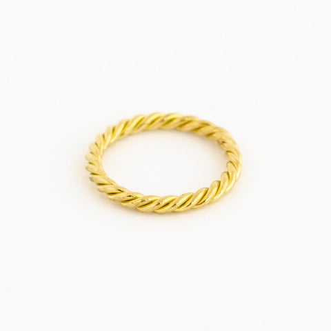 Hand-Twisted Gold Band Ring