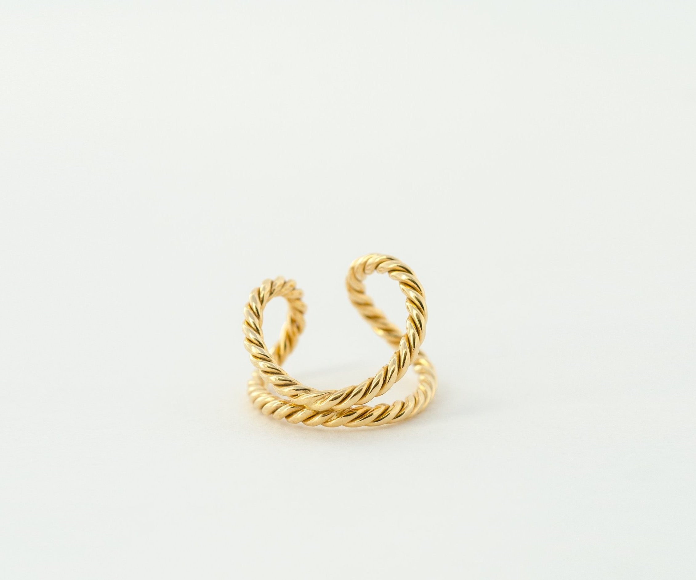 Open Shank Gold Rope Ring