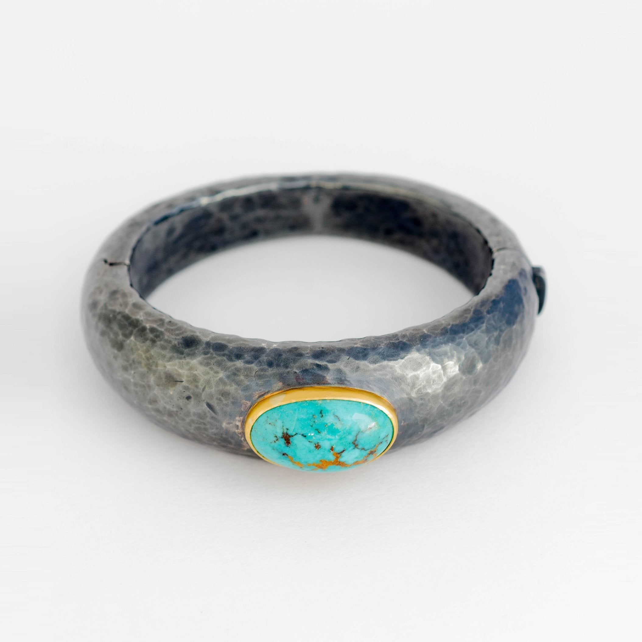 Turquoise, Silver & Gold Bracelet