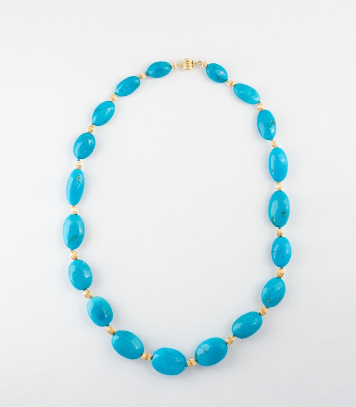 Turquoise Bead & Gold Necklace