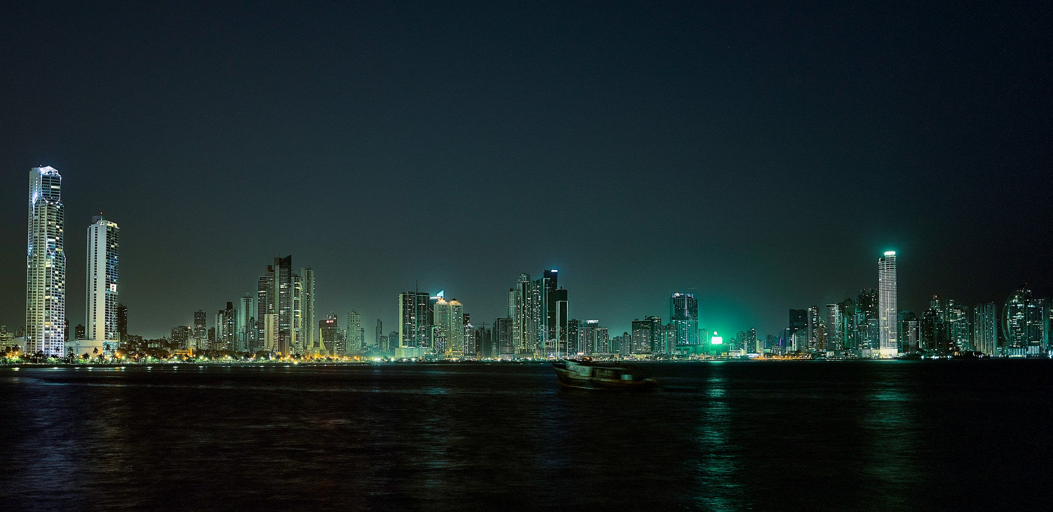 City Skyline at Night - Panama