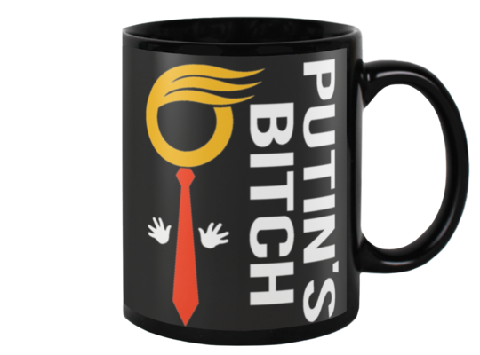 PUTINS BITCH - 15oz black coffee mug