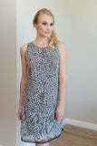 Chiffon Shift Dress - Animal Print
