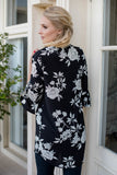 Floral Tunic Top - Black