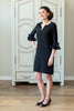 Tunic Dress - Black Bell Sleeve