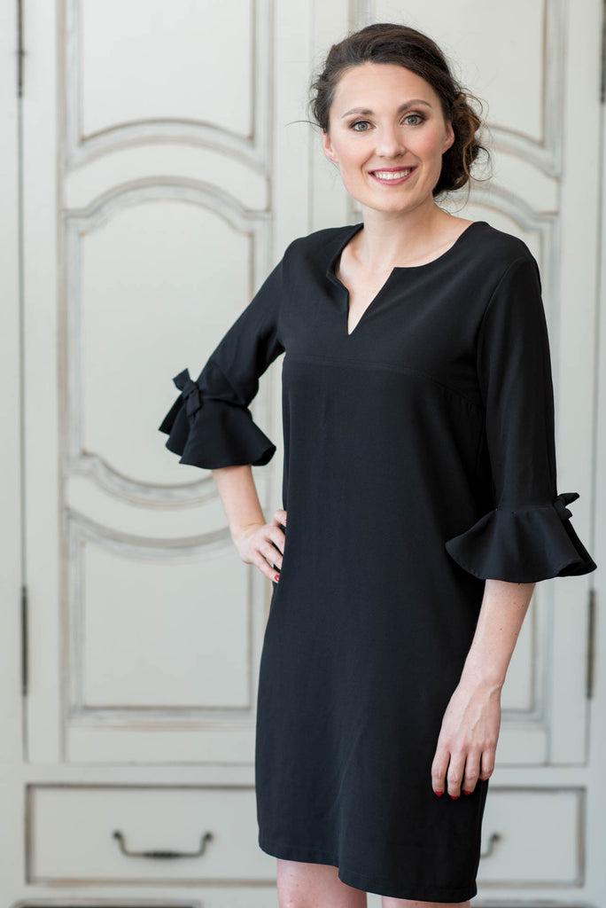 78e6722ad79ef Tunic Dress - Black Bell Sleeve – LORAINEROUX Collection