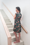Wrap Dress - Green & Pink Floral