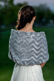 Faux Fur Bolero - Silver Grey