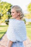 Faux Fur Bolero - White