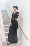 Wrap Maxi Dress - Black