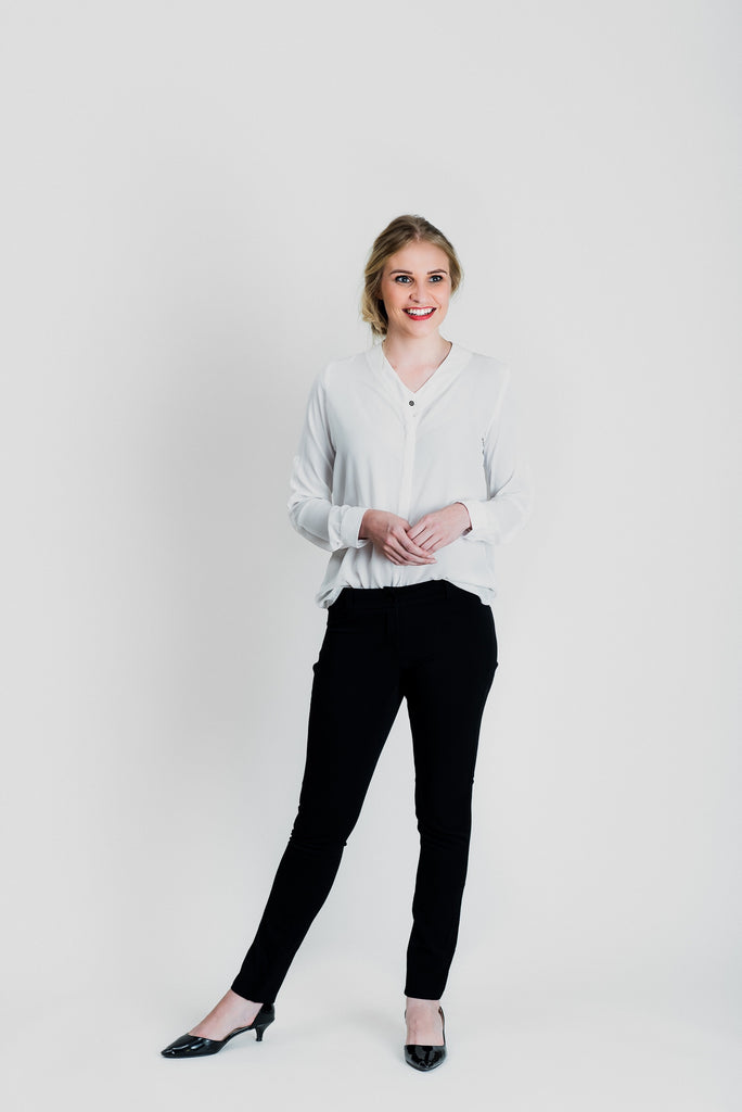Skinny Leg Pants - Black