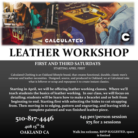 Calculated Clothing Leather Workshop