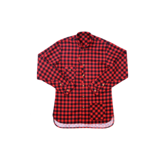 Captain Shirt- Red And Black Plaid
