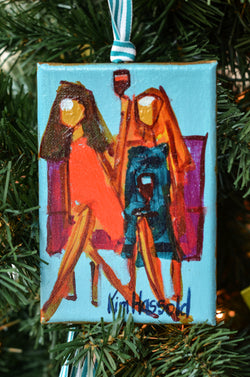 Girl Ornament 7 - 4x6