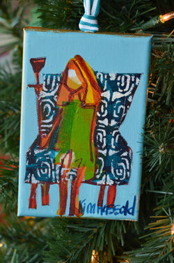Girl Ornament 8 - 4x6