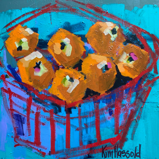 Teal and Orange Still Life - 20x20