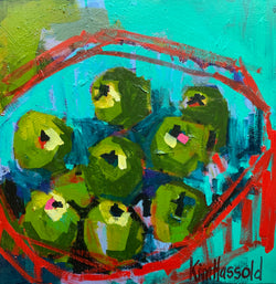 Green Apples Still Life - 24x24
