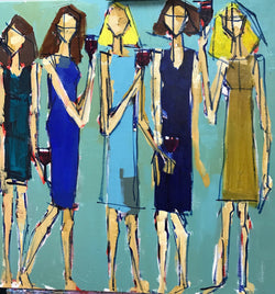 Girls Night Out - 24x24