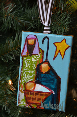 Nativity Ornament 10 - 4x6