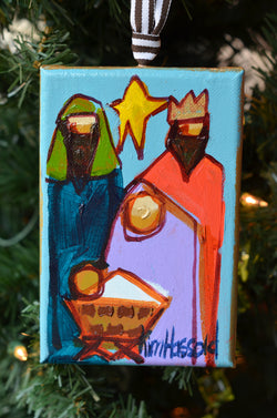 Nativity Ornament 3 - 4x6