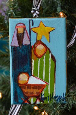 Nativity Ornament 4 - 4x6