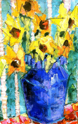 Yellow in Blue - 24x36